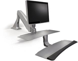 Floating Arm Design Standing Desk Converter Example
