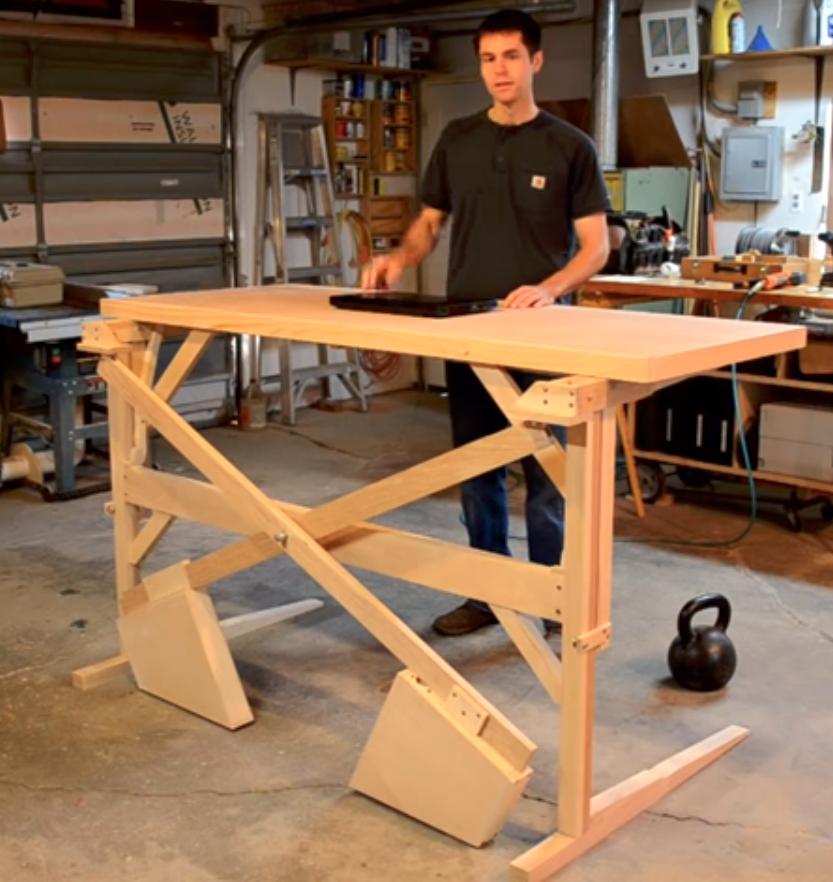 Engineer Your Own Standing Desk - Counterweight Operation - Guide to DIY standing desks